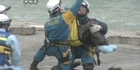 Watch: RAW VIDEO: 80-year-old woman rescued in Japan