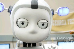 Simon the robot can tell when you're paying attention to him or not. Photo / Supplied