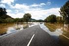 SH25 in Coromandel was flooded. Photo / Christine Cornege