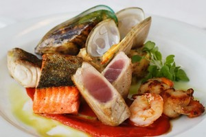 The chef's seafood selection at White gives a taster of its components. Photo / Steven McNicholl
