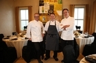 Heston Blumenthal , Dale Gartland and Thomas Keller at Cape Kidnappers. Photo / Supplied