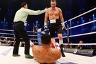 World boxing champion Vitali Klitschko of the Ukraine, has knocked out challenger Odlanier Solis from Cuba. Photo / AP