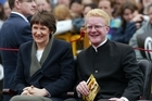 Prime Minister Helen Clark with Darren Hughes, then New Zealand's youngest MP, in 2002. Photo / Mark Mitchell