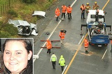 The scene of the crash which killed Eleshia McKinstry, inset, and Jerle Jeschke. Photos / Greg Bowker, supplied