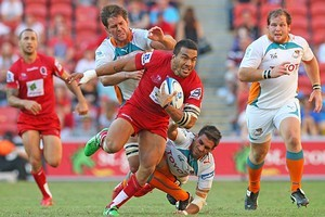 Digby Ioane of the Reds in attack. Photo / Getty Images
