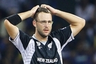 Daniel Vettori looks on during the semifinal . Photo / Getty Images