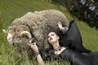 Fierce: Mt Eden and a sheep are props in an America's Next Top Model episode that was shot here in NZ. Photo / Supplied, Nigel Barker