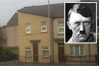 A terrace house in Swansea, Wales, has become an internet sensation - for looking like Adolf Hitler. Photo / Supplied by Charli Dickenson