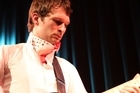 Andrew Keoghan performs at his album release show in Auckland. Photo / Hugh Sundae