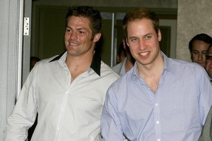 Richie McCaw met Prince William during the royal visit to New Zealand last year, but has turned down his invitation to the royal wedding. Photo / Getty Images