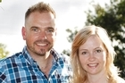 Julian and Sue Maloney beside the Whau River, Avondale. Photo / Steven McNicholl