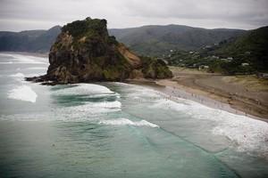 Piha Beach. Photo / Dean Purcell