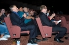 Phil Goff sits behind Andrew Little at the Labour Party conference. Photo / Jason Dorday