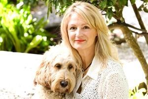 Jackie Allum with her dog Millie. Photo / Babiche Martens