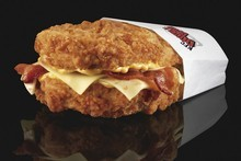 KFC's Double Down burger has raised the ire of health campaigners. Photo / Supplied