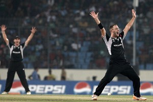 Daniel Vettori ensured we stayed in the game. Photo / Getty Images