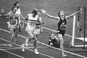 John Walker wore black to the 1976 Olympic 1500 metres. Photo / Paul Estcourt