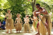 The cultural activities on Treasure Island for the children kept them occupied for a blissful few hours. Photo / Supplied