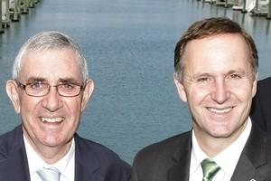 Sir Paul Callaghan with Prime Minister John Key. Photo / Steven McNicholl