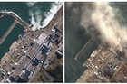 Aerial views reveal white smoke continues to rise from several reactors at the disaster-hit Fukushima nuclear plant, but confusion remains over the extent of contamination.