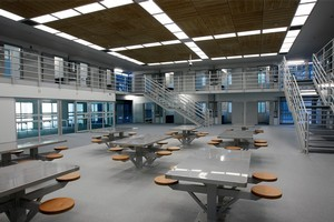 Inside Accommodation Block B at the new Auckland Central Remand Prison. Photo / Sarah Ivey