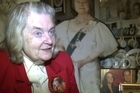 Royal memorabilia collector Margaret Tyler in her North London home. Photo / AFP