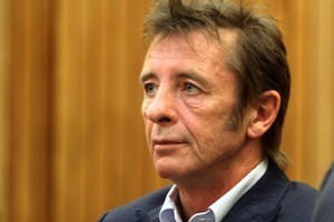 Phil Rudd during an appeal for his drug conviction inside the Tauranga District Court. Photo / Bay of Plenty Times