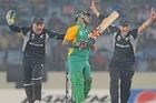 JP Duminy of South Africa bowled by Nathan McCullum of New Zealand. Photo / Getty Images