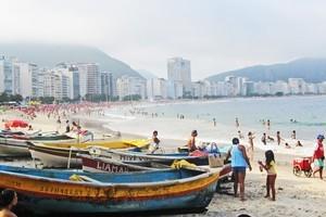 Tourists enjoy the weather in Rio de Janeiro all year round. Photo / Geoff Cumming