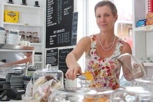 Cherie McGregor, owner of Coco Espresso, Thames. Photo / Bruce Nicholson