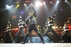 Usher's physique shared equal billing with his music in his show at Vector Arena last night. Photo / Steven McNicholl