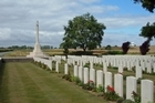 The Commonwealth War Grave at St Aubert in Northern France is close to the planned route of the canal. Photo / Supplied