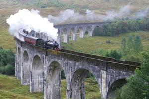 Glenfinnan Viaduct near Loch Shiel features in Harry Potter films. Photo / Pamela Wade