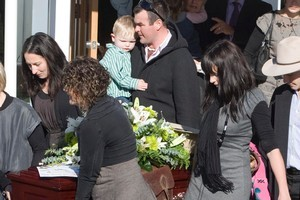 Ewen MacDonald helped to carry the coffin at Scott Guy's funeral in July last year. Photo / Mark Mitchell