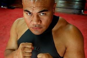 Heavyweight boxer David Tua. Photo / Brett Phibbs