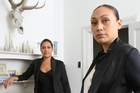 Nilla(left) and her sister Gua work from a rented house in Kingsland. Photo / Greg Bowker