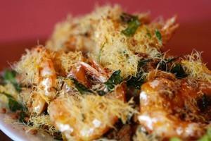 Butter prawns at KK Malaysian Restaurant, 463 Manuakau Road. Photo / Steven McNicholl