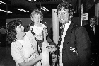 Photo recall: Which future Black Cap, bowled over by this exciting airport encounter, would one day be bowling others over in the international arena? Photo / NZ Herald