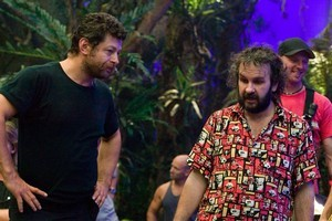 Andy Serkis (left) on the set of  King Kong  with Sir Peter Jackson. Photo / Supplied