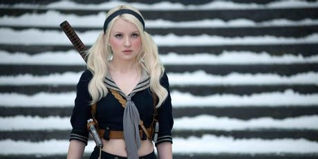 TOUGH: Emily Browning is Babydoll, but don't be fooled by the pigtails. Photo / Supplied