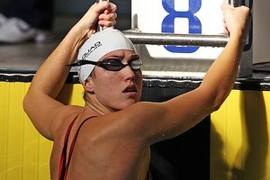 Melissa Ingram competes in the Women's 200m backstroke. Photo / Getty Images