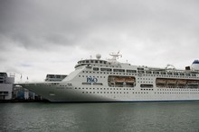 The Pacific Pearl docked at Princes Wharf. Photo / Dean Purcell