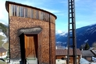 Swiss architect Peter Zumthor's designs - like this chapel in a mountain hamlet - are usually located in remote and unexpected locations. Photo / Wikimedia Commons image by jonathanvlarocca