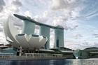 The vast Marina Bay Sands complex, with the art and science museum in the foreground and the SkyPark behind. Photo / Supplied