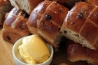 Hot cross buns. Photo / Doug Sherring