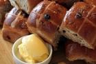 Hot cross buns. Photo / Doug Sherring
