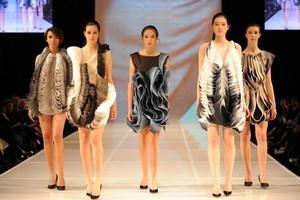 Sarah Mok's creations were part of the line-up at Dunedin iD Fashion Week. Photo / Chris Sullivan
