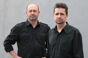 Stuart Terrell and Henk de Kock of Westfalia Asia Pacific have designed a universal towbar. Photo / Doug Sherring