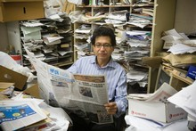 Mandarin Times editor David Soh's paper has risen to a circulation of more than 10,000. Photo / Paul Estcourt