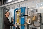 Reserve Bank communications advisor Anthea Black, with the Moniac in Wellington. File photo / Mark Mitchell